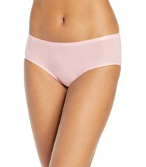women's chantelle lingerie soft stretch seamless hipster panties, size one size - pink