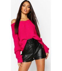 crop twist sweater, hot pink