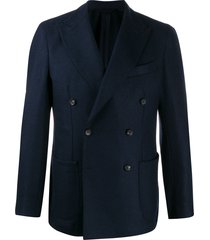 borrelli formal double breasted blazer - blue