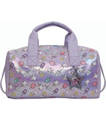 omg! accessories miss gwen's unicorn snacks metallic duffle bag
