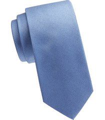 eton men's textured silk tie - blue