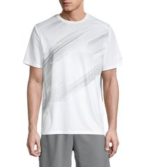 grand slam men's striped front panel t-shirt - bright white - size l