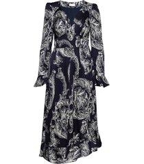 freesia, 513 light viscose jurk knielengte zwart stine goya
