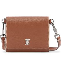 burberry small strap wallet - brown