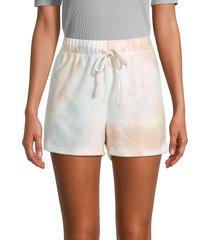 allison new york women's tie-dyed shorts - size m