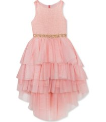 rare editions little girls tiered high-low dress