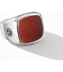 men's david yurman exotic stone signet ring with red agate