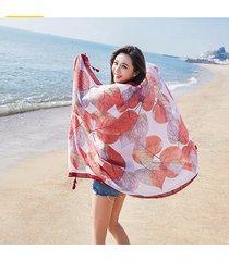 womens priting colorful sciarpe da spiaggia parasole sciarpe scialli traspirante soft moda sciarpa