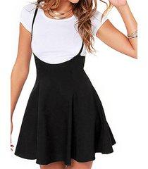 imars vestido negro sin mangas con tirantes ajustables y espalda con cremallera