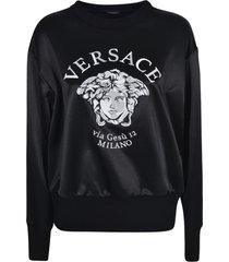 versace logo print sweater