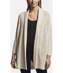 cotton linen buttonless cardigan