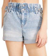 madden girl juniors' ruby paperbag jean shorts