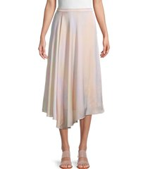 vince women's rainbow wash high-low skirt - size 14