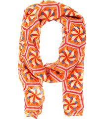 pashmina mandala hexagono naranja fight for your right