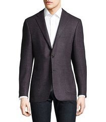 text wool blazer