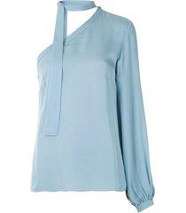 egrey one shoulder blouse - blue