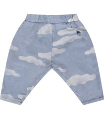 bobo choses light blue pants with clouds for baby boy