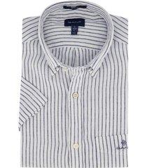 gant overhemd korte mouwen wit linnen