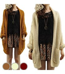 women's autumn winter casual open front long sleeve cable knit cardigan fashion