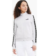amplified full zip trainingsjack voor dames, wit, maat xl | puma