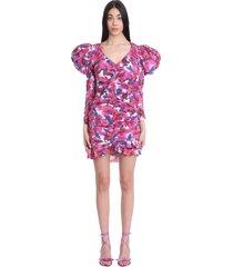 isabel marant mireya dress in multicolor cotton