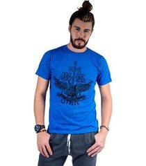 camiseta mister fish estampado rock and roll masculina