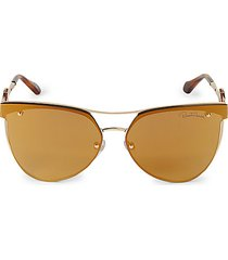 63mm browline aviator sunglasses