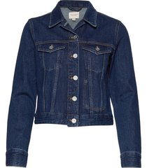 macee micro wstrn denim ls jkt jeansjack denimjack blauw french connection