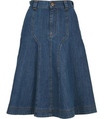 see by chloé signature blue denim skirt
