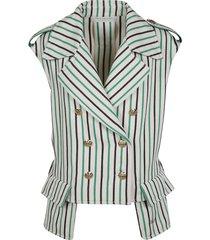 philosophy di lorenzo serafini double-breasted stripe gilet