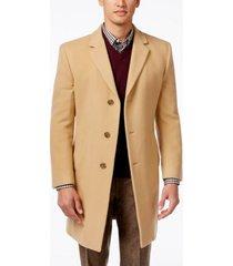 tommy hilfiger addison wool-blend trim fit overcoat