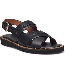 gemma sandal gemma sandal womens shoes shoes summer shoes flat sandals svart coach