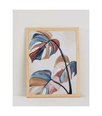 amaro feminino quadro folhagem 32 cm x 42 cm, folhagem color