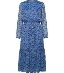 anastacia dress knälång klänning blå lollys laundry