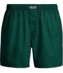 polo ralph lauren men's signature print woven cotton boxers