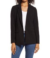 women's halogen pocket blazer, size x-small - black