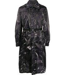1017 alyx 9sm para wrinkled overcoat - black