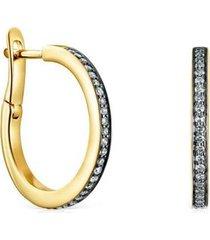aretes medianos   de oro vermeil y diamantes :918443670