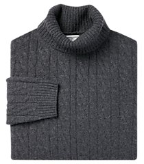 1905 collection lambswool blend turtleneck men's sweater - big & tall clearance