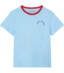 marc jacobs the ringer cotton short sleeve t-shirt - blue
