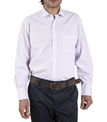 camisa algodón libre de arrugas rosa rockford