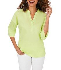 women's foxcroft roman stretch non iron tunic, size 2 - green