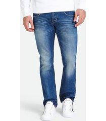 jeansy z efektem znoszenia i postrzępionym wykończeniem