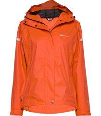 hildra 2-layer technical rain jacket outerwear sport jackets orange skogstad