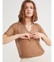 polo rete lino cotone