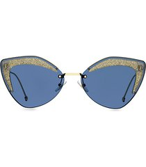 66mm glitter cat eye sunglasses