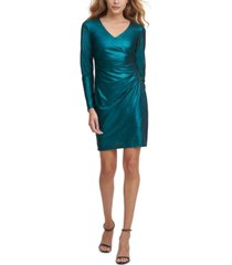 guess metallic side-ruched dress