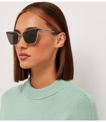 saint laurent women's metal cat eye sunglasses - silver