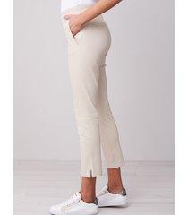 pantalon met split van lamsleer met stretch