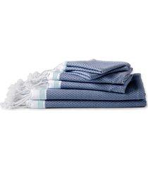 coyuchi mediterranean bath organic cotton guest towel in lake w/sea spray at nordstrom
